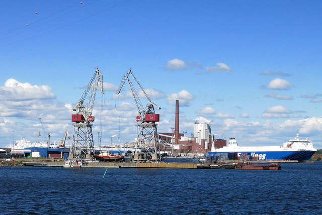 Haminan-Kotkan satama jättää jälleen Satamaliiton. (kuva: Ville Miettinen)