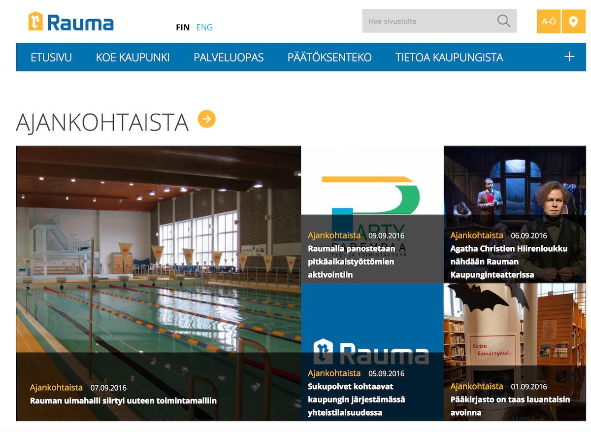 Rauma päätti hankkiutua pikavauhtia eroon viime vuonna julkaistusta sivustosta ja julkaisee uudet sivut jo joulukuussa.