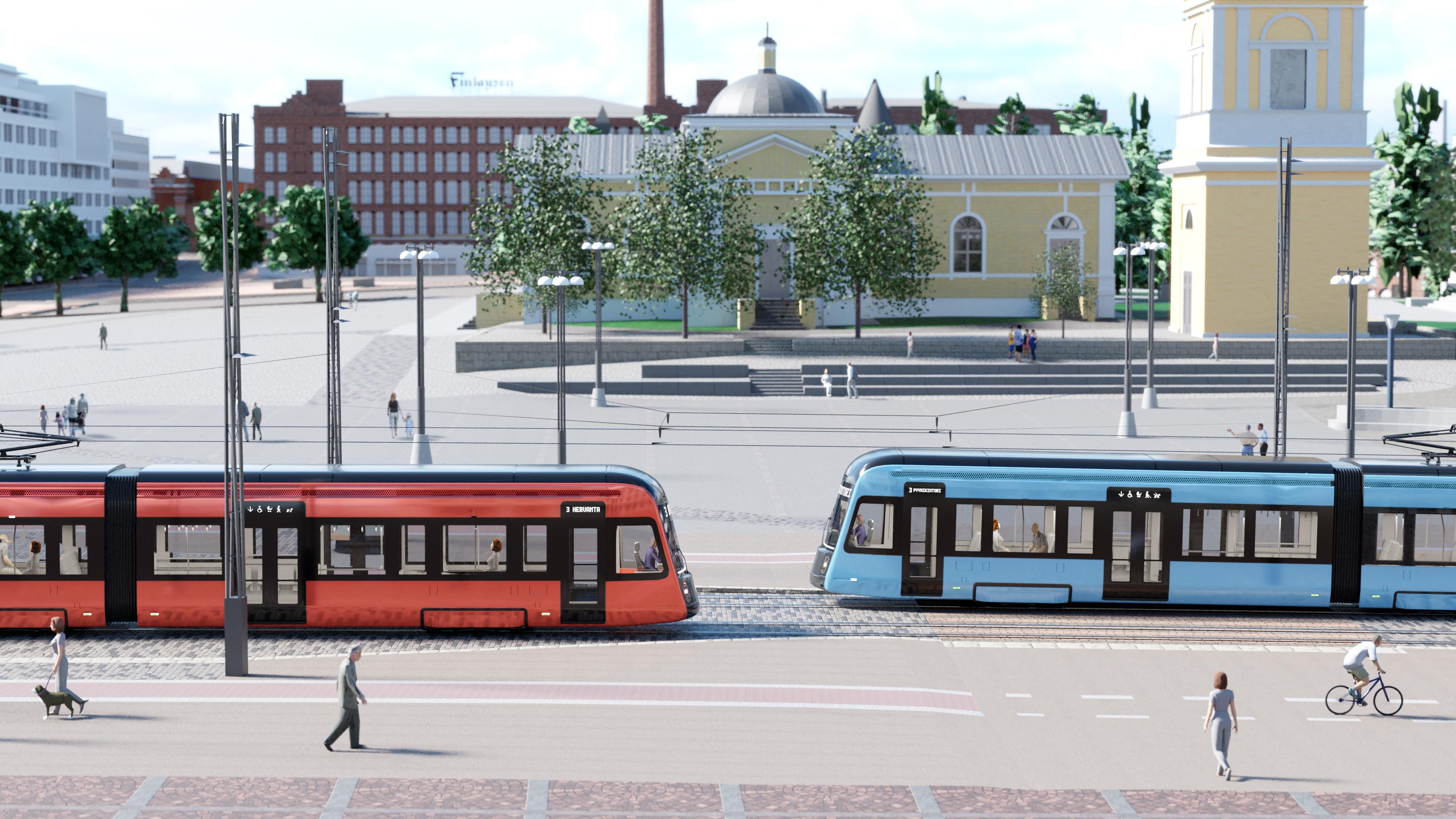 Tampere Esitteli Tulevan Raitiovaununsa Kuntalehti