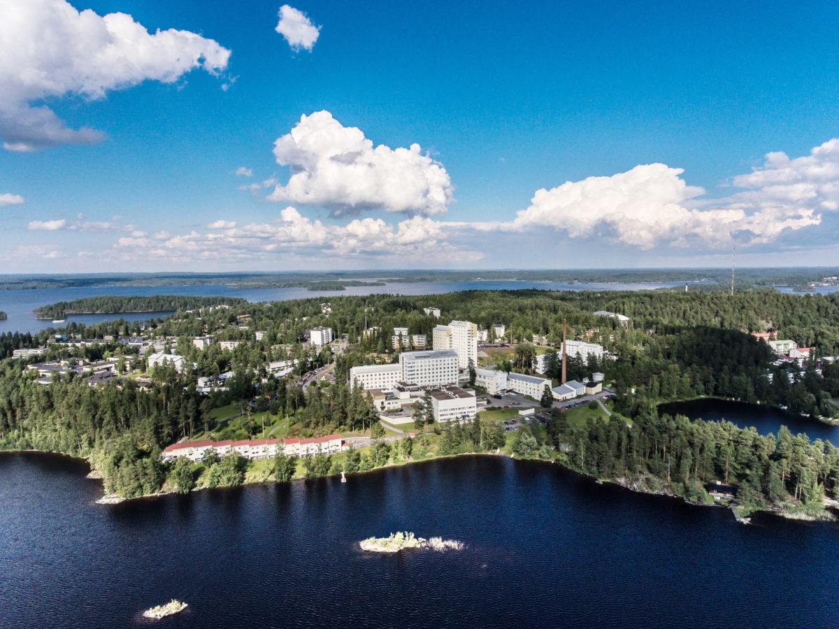 Ilmakuva Savonlinnan keskussairaalsta