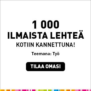 Kuntalehden mainos: Tuhat ilmaista lehteä kotiin kannettuna. Tilaa omasi.