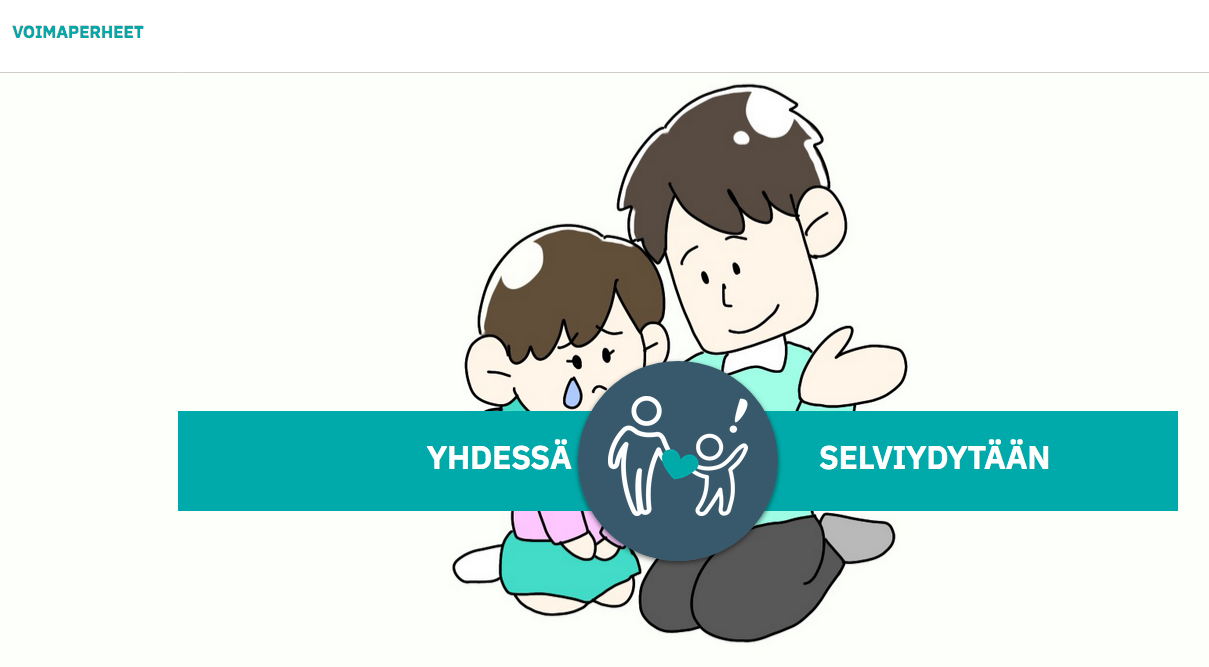 piirros, lapsi lohduttaa toista lasta