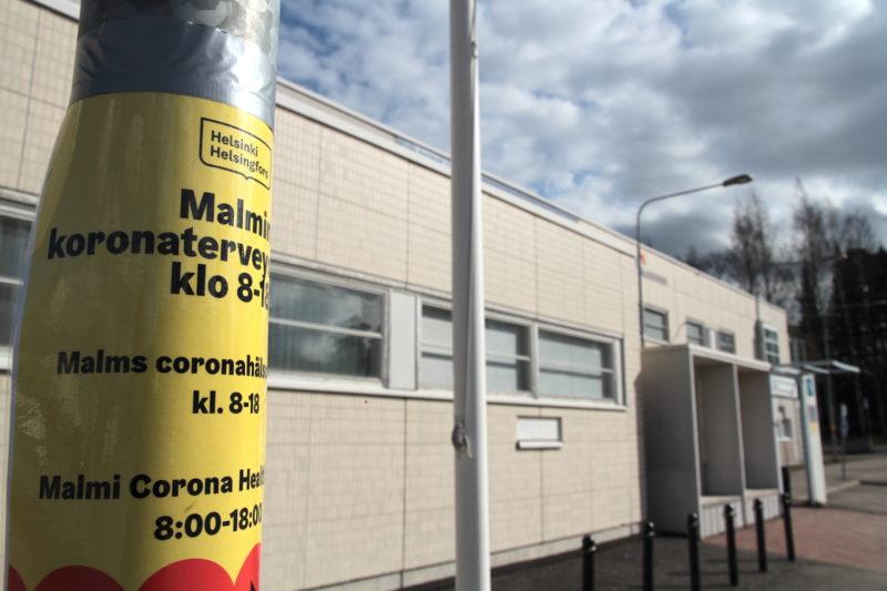 Koronaterveysasema Malmilla Helsingissä