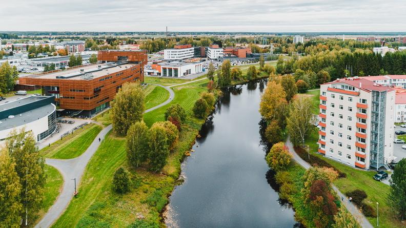 Kuva Seinäjoen kaupungista lintuperspektiivistä