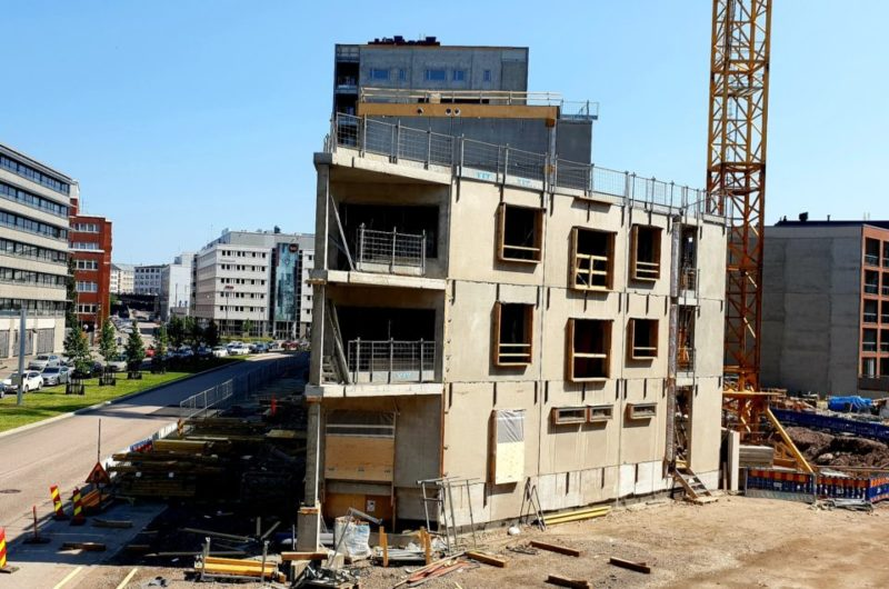 Asuntojen rakennustyömaa