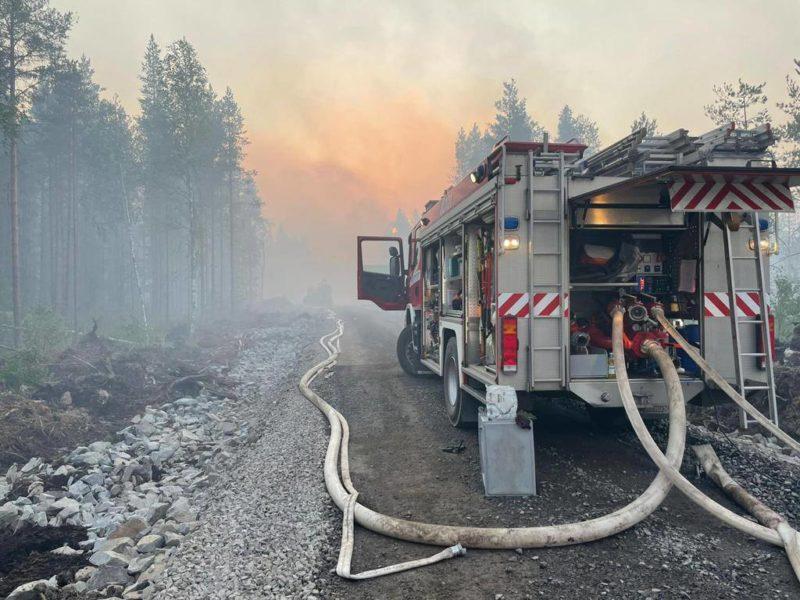 Kalajoen metsäpalo kesä 2021/Kuva Jokilaaksojen pelastuslaitos