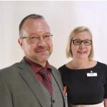 Professori Petri Virtanen ja Hattulan kunnanjohtaja Heidi Rämö kertoivat miten johdetaan strategisensotkuisuuden keskellä.