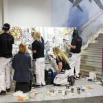 Tulevaisuusmaalaus 2025 on tällä hetkellä esillä Vantaan kaupungintalon aulassa.