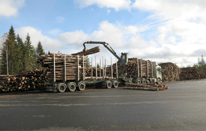 Osuuskunta ostaa puun pystyyn metsänomistajalta, minkä jälkeen korjuuyrittäjä korjaa puun ja toimittaa sen tien varteen.