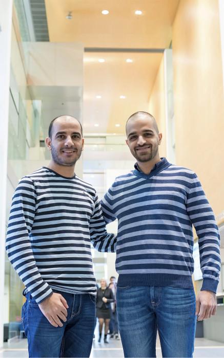 Mohammed Almayahi (oik.) ja Mohammed Noori tutustuivat suomalaiseen työelämään Turun ammattikorkeakoulussa. He haluaisivat työhön mahdollisimman nopeasti.