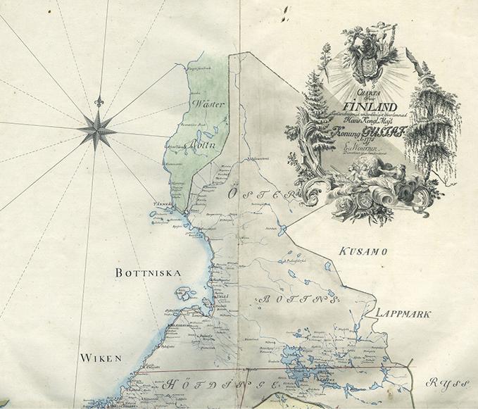 Eric Wetterstedtin tekemä kartta vuodelta 1775 näyttää, että Länsi-Pohja oli aikoinaan tiiviisti osa länttä. Lähde on Heikki Rantatuvan Historialliset kartat.